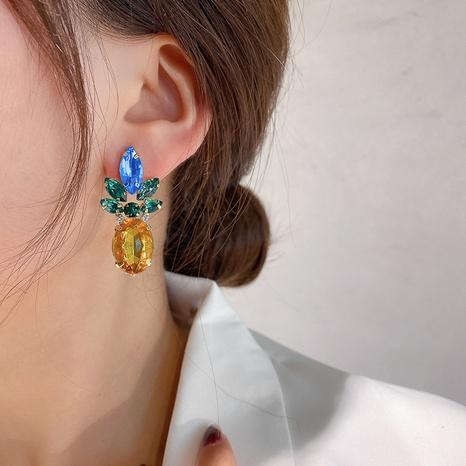 Boucles d'oreilles ananas zircon aiguille en argent 925 NHQC305079's discount tags