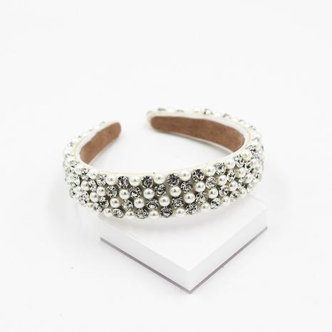 Barockes, mit Diamanten besetztes Perlen-Exquisit-Stirnband NHWJ305268's discount tags