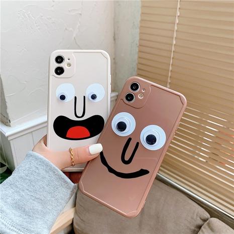Cas de téléphone portable drôle d'expression 12mini 11pro de dessin animé pour iPhone8plus XR SE2 XS 7P NHFI305308's discount tags