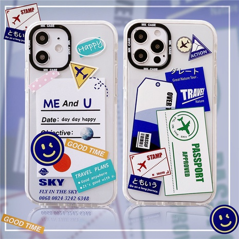 Étui pour téléphone portable 12mini 11Pro pour iPhoneXS 7plus SE2 coque souple transparente NHFI305313's discount tags