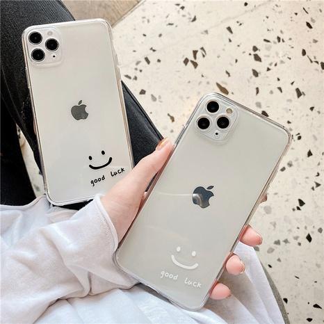 Coque iPhone transparente Smiley simple pour iPhoneXXR7plusse2 NHFI305383's discount tags