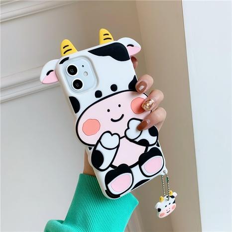 Cas de téléphone de vache de dessin animé mignon pour iPhone8plus SE2 XR NHFI305405's discount tags