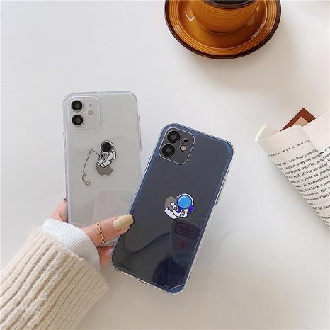 Coque de téléphone portable astronaute transparente simple pour coque souple iPhoneXR SE2 8P X NHFI305410's discount tags