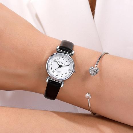 Reloj de cuarzo simple con cinturón fino coreano NHSS305423's discount tags