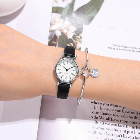 reloj de pulsera casual de escala romana de cinturón fino de moda NHSS305424's discount tags