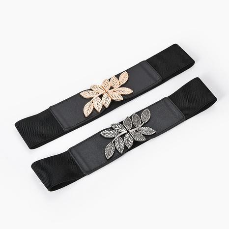 Creative fashion metal leaf elastic waist NHPO305430's discount tags
