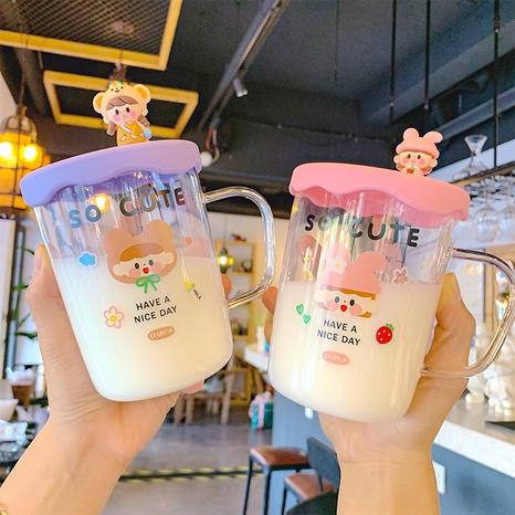 Creative cartoon cute glass cup NHtn305457's discount tags
