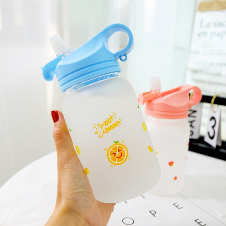 cute frosted glass straw cup NHtn305483's discount tags