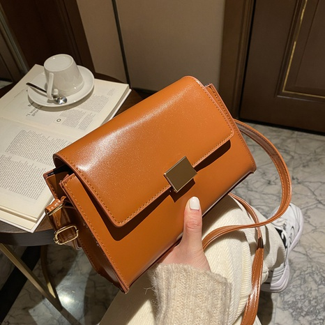 new trendy fashion simple solid color shoulder square bag NHRU305539's discount tags