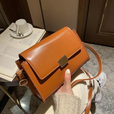 nuevo bolso cuadrado de hombro de color sólido simple de moda de moda NHRU305539's discount tags