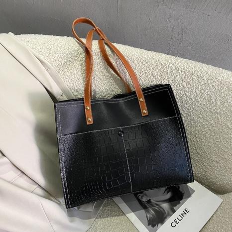 Bolso de hombro de moda simple de gran capacidad NHRU305567's discount tags