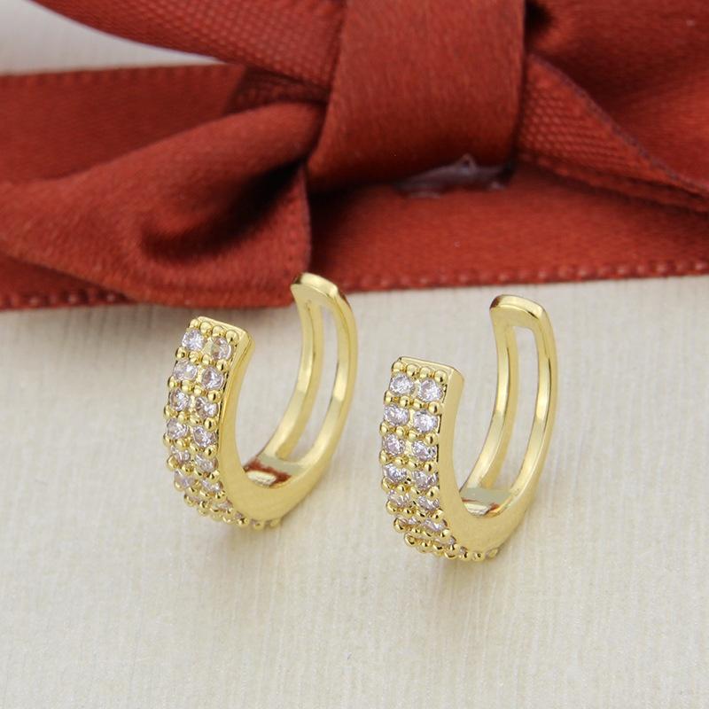 double row zircon ear clips  NHBP305576