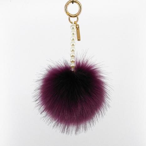 fur ball pearl chain keychain NHAP305589's discount tags