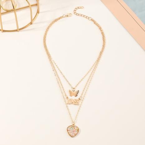 Collar de amor con letras de mariposa para niños nuevos de corea NHNU305105's discount tags