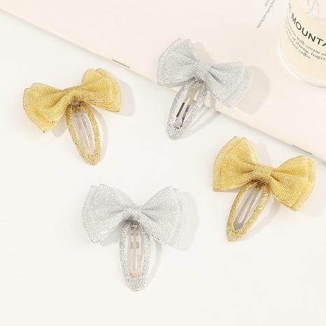 Korean fabric striped bow BB clip  NHNU305108's discount tags