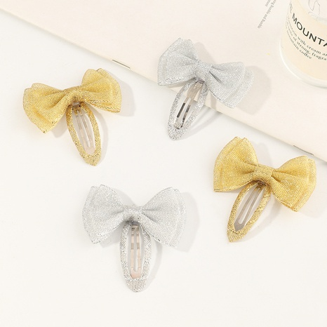Pinza BB con lazo de tela coreana a rayas NHNU305108's discount tags