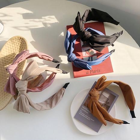 einfaches großes Bogen-Stirnband in reiner Farbe NHSM305174's discount tags