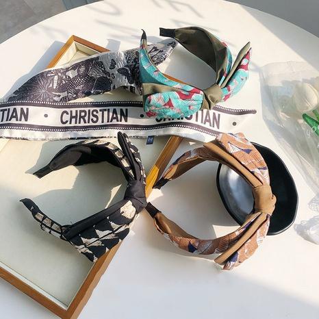 Modedruck Big Bow breites Stirnband NHSM305177's discount tags