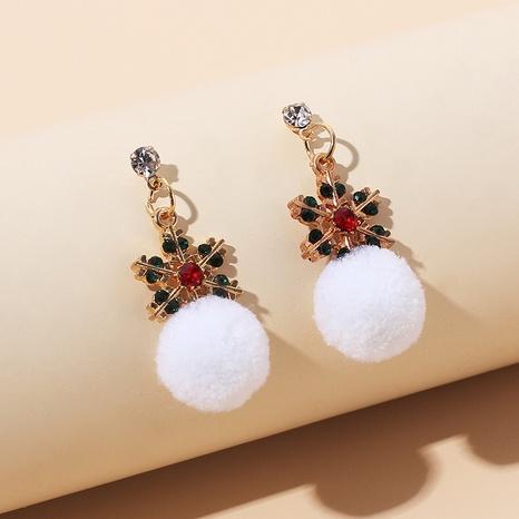 cute fur ball rhinestone earrings NHRN305636's discount tags