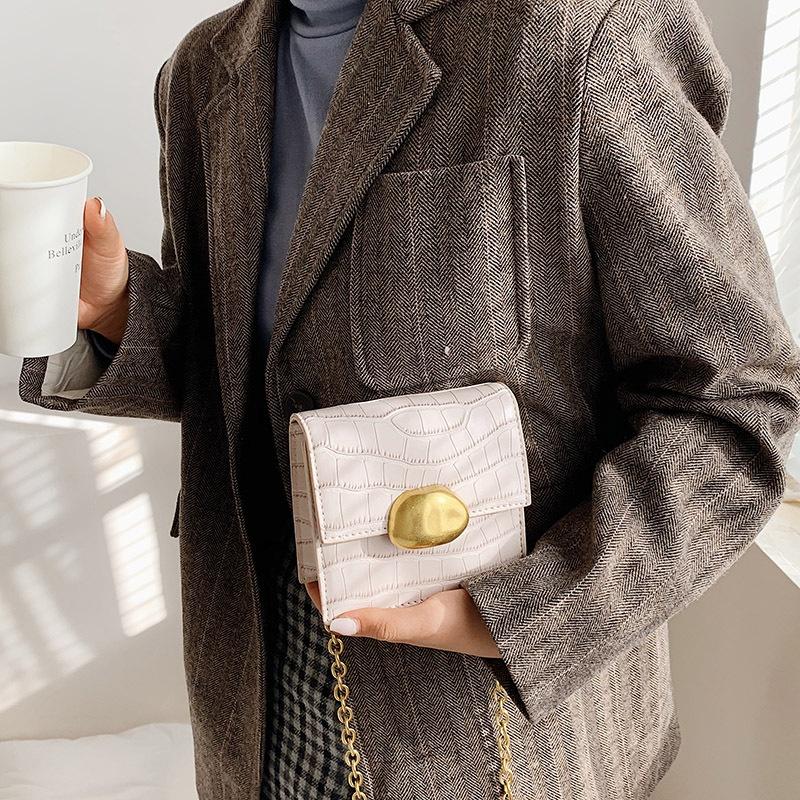 stone pattern single shoulder messenger mini bag  NHTG305670