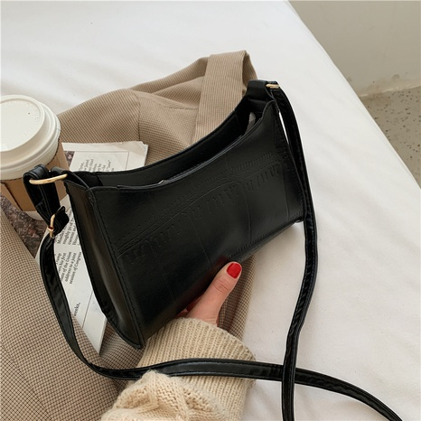 fashion simple shoulder zipper bag NHEX305722's discount tags