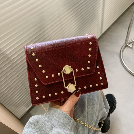fashion rivet casual single shoulder bag NHEX305728's discount tags