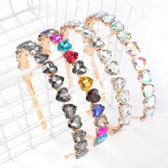 diadema de aleación de diamantes de imitación con diamantes de imitación NHJE305790