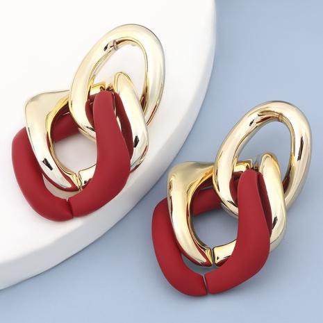 Korean CCB resin geometric earrings NHJE305796's discount tags