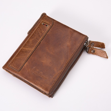 pu leather double zipper retro wallet  NHBN305798's discount tags