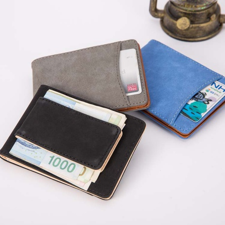 frosted leather magnet buckle wallet  NHBN305802's discount tags