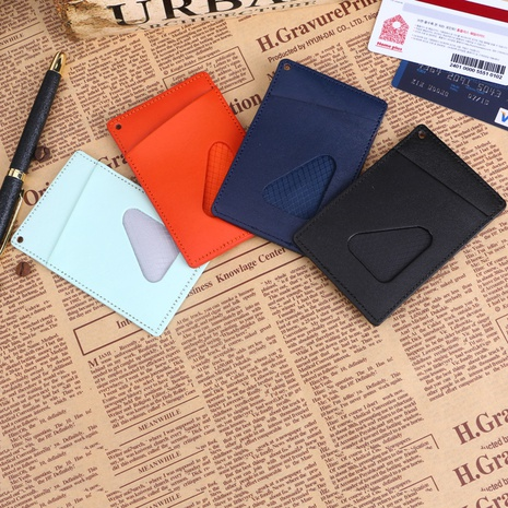 Retro leather card holder wholesale NHBN305807's discount tags