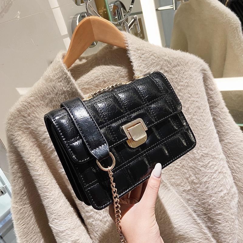 fashion rhombus single shoulder messenger bag NHLH305841