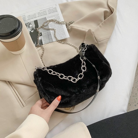 plush casual fashion shoulder bag  NHEX305968's discount tags