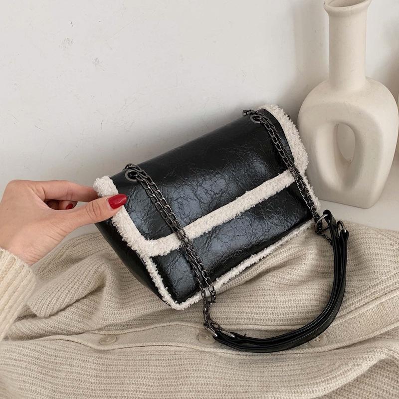 Frayed retro soft fashion messenger bag NHEX305984