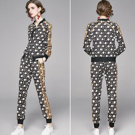 Costume de pantalon de veste d'impression de cardigan de mode NHUO307320's discount tags