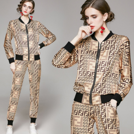 new long-sleeved baseball digital printing pants two-piece suit NHUO307326's discount tags