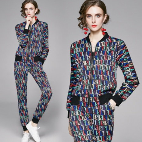 new fashion all-match cardigan suit NHUO307324's discount tags