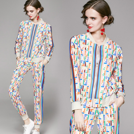 fashion cardigan printing jacket pants suit NHUO307336's discount tags