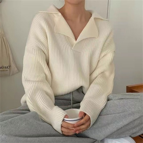Autumn new style long-sleeved loose knit sweater top sweater NHKO442350's discount tags