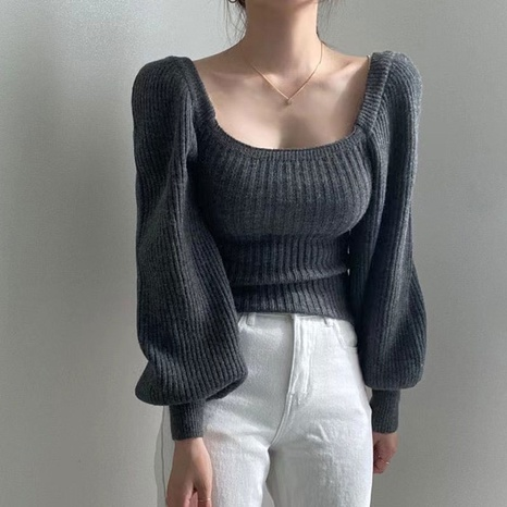 Autumn and winter warm base long-sleeved slim waist sweater NHKO442347's discount tags