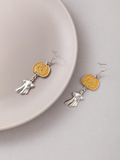 2021 New Ornaments Halloween Orange Pumpkin Earrings NHGY445003's discount tags