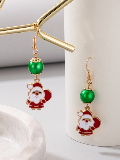 2021 New Jewelry Christmas Multicolor Santa Ball Earrings NHGY445000's discount tags