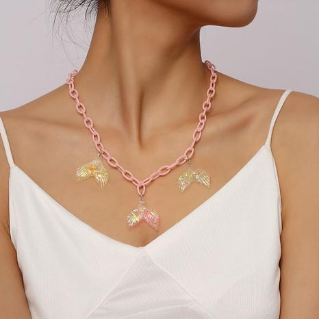 creative acrylic chain mermaid tail necklace creative cross-border resin pendant jewelry NHLA442615's discount tags