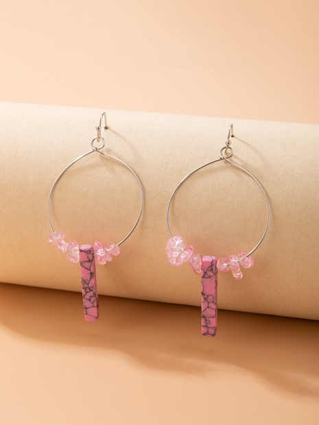 2021 cross-border new jewelry geometric hollow round earrings NHGY444983's discount tags