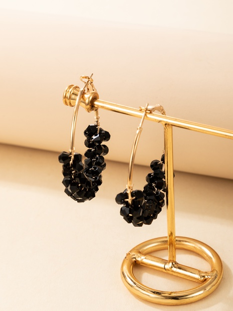 2021 new personality creative jewelry black crystal earrings NHGY444929's discount tags
