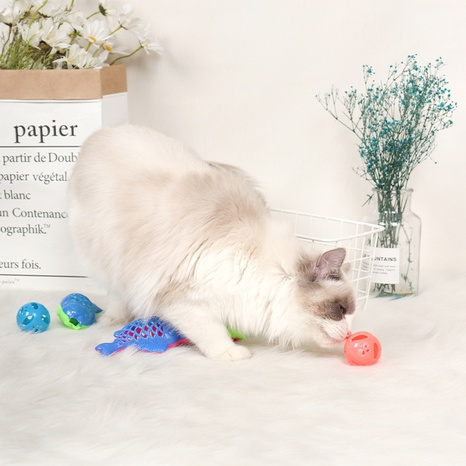 plastic hollow fish bell ball pet self-hey cat and dog toy sales NHPSM443438's discount tags