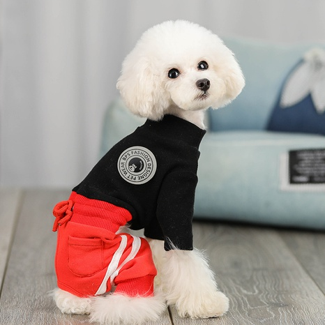cat dog clothes wholesale autumn and winter cotton turtleneck bottoming shirt leisure pet clothes  NHPSM443439's discount tags