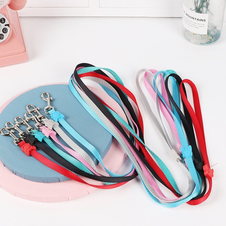 nylon pet leash solid color dog pull with candy-colored leash pet supplies NHPSM443442's discount tags