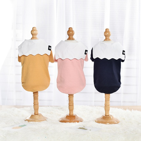 New autumn and winter dog clothes small dog cotton fleece sweater thickened warm pet clothes  NHPSM443443's discount tags