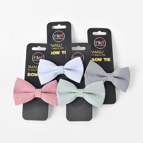 pet bow tie bow small Teddy Pomeranian puppy bell collar pet cat cat bow tie jewelry NHPSM443444's discount tags